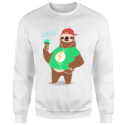 Sloth Chill Sweatshirt - White
