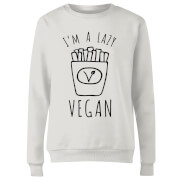 Lazy Vegan Women's Sweatshirt - White
