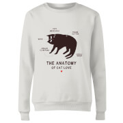 The Anatomy Of Cat Love Women's Sweatshirt - White