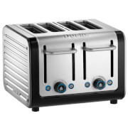 Dualit 46505 Architect 4 Slot Toaster - Brushed Steel/Black