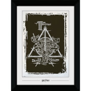 Harry Potter Deathly Hallows Graphic Collector's 50 x 70cm Framed Photograph
