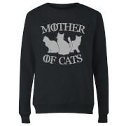 Mother Of Cats Black Women's Sweatshirt - Black