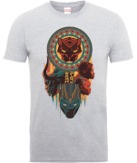 T-Shirt Homme Totem Black Panther - Gris