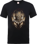 Black Panther Gold Erik Killmonger T-shirt - Zwart