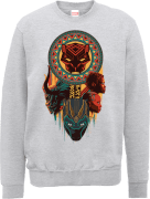 Black Panther Totem Sweatshirt - Grey