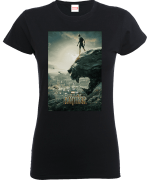 Black Panther Poster Dames T-shirt - Zwart
