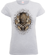 Black Panther Gold Erik Killmonger Dames T-shirt - Grijs
