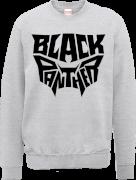 Black Panther Emblem Sweatshirt - Grey