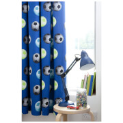Catherine Lansfield Football Curtains - Blue - 168 x 183cm