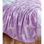 Catherine Lansfield Folk Unicorn Throw - Multi - 120 x 150cm
