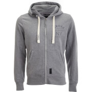 Crosshatch Men's Laramie Zip Through Hoody - Lighe Grey Marl