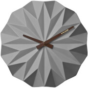 Karlsson Origami Ceramic Wall Clock - Matt Grey