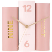 Karlsson Book Table Clock - Pink Tones Paper