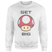 Nintendo Super Mario Get Big Mushroom Sweatshirt - White