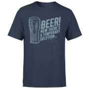 Beer Temporary Solution T-Shirt - Navy