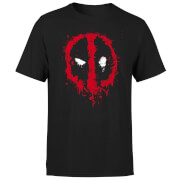 Marvel Deadpool Splat Face T-Shirt - Schwarz
