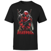 Marvel Deadpool Ready For Action T-Shirt - Zwart