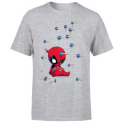 T-Shirt Homme Deadpool (Marvel) Cartoon Knockout - Gris