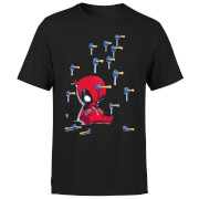 T-Shirt Homme Deadpool (Marvel) Cartoon Knockout - Noir