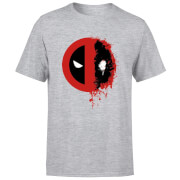 Marvel Deadpool Split Splat Logo T-Shirt - Grey