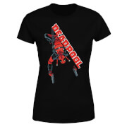 T-Shirt Femme Deadpool (Marvel) Hang Split - Noir