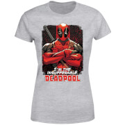 Marvel Deadpool Crossed Arms Women's T-Shirt - Grey