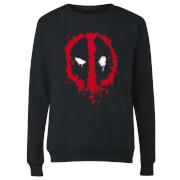 Marvel Deadpool Splat Face Women's Sweatshirt - Black