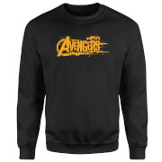 Marvel Avengers Infinity War Orange Logo Sweatshirt - Black