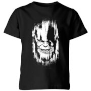 Marvel Avengers Infinity War Thanos Face Kids' T-Shirt - Black