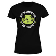 I Kissed A Leprachaun And I Liked It Women's T-Shirt - Black