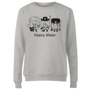 Heavy Metal Women's Sweatshirt - Grey
