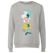 Disney Alice In Wonderland Mad Hatter Classic Women's Sweatshirt - Grey