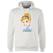 Disney Princess Colour Silhouette Cinderella Hoodie - White