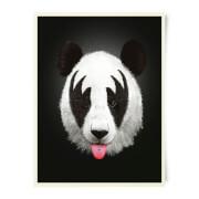 Robert Farkas Kiss Of A Panda Art Print