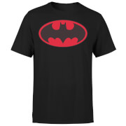 T-Shirt Homme Batman DC Comics - Logo Rouge - Noir