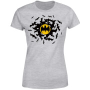 DC Comics Batman Bat Swirl Women's T-Shirt - Grey