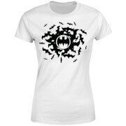DC Comics Batman Bat Swirl Dames T-shirt - Wit