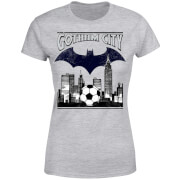 T-Shirt Femme Batman DC Comics - Football Gotham City - Gris