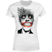 DC Comics Batman Joker Face Of Bats Women's T-Shirt - White