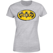 DC Comics Batman Japanese Logo Women's T-Shirt - Grey