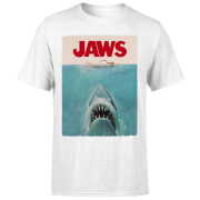 Jaws Classic Poster T-Shirt - White
