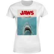 Jaws Classic Poster Dames T-shirt - Wit