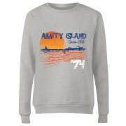 Sweat Femme Les Dents de la mer - Club de Natation Amity - Gris