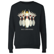The Big Lebowski Pin Girls Women's Sweatshirt - Black