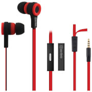 AV: Link Rubberised Tangle Free Cable Earphones with Mic - Red/Black