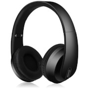 AV: Link Satin Finish Bluetooth 4.2 Headphones with Hard-Shell Case - Black