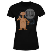 ET Where Are You From Damen T-Shirt - Schwarz