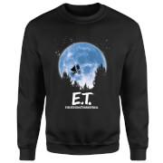 Sweat Homme E.T. l'extra-terrestre - Silhouette dans la Lune - Noir