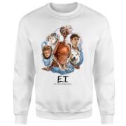 Sudadera E.T. el extraterrestre Retrato Personajes - Hombre - Blanco