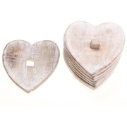 Sass & Belle Wooden Heart Coasters